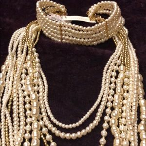 Chico pearl choker/necklace combo. BNWT.